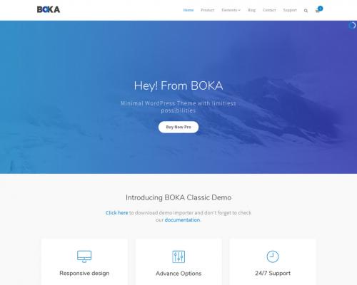 دانلود رایگان قالب وردپرس Boka