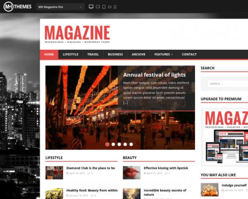 دانلود رایگان قالب وردپرس MH Magazine Lite