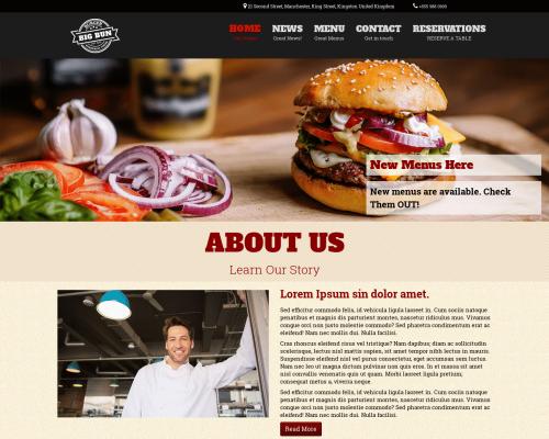 دانلود رایگان قالب وردپرس Burger