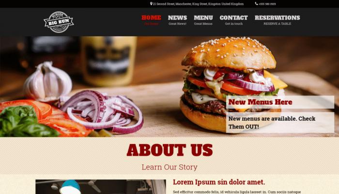 پیش نمایش دسکتاپ قالب وردپرس Burger