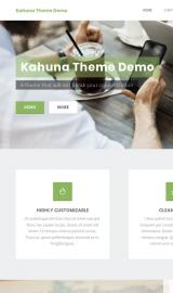 پیش نمایش موبایل قالب وردپرس Kahuna