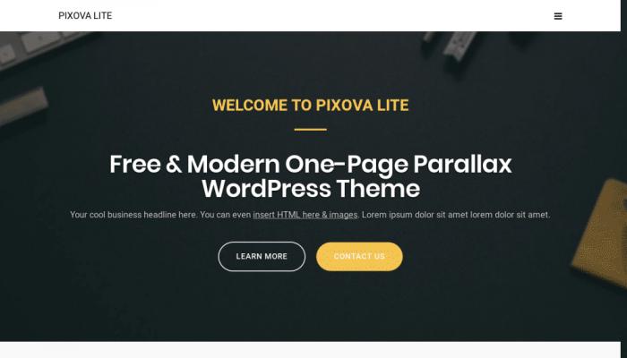 پیش نمایش دسکتاپ قالب وردپرس Pixova Lite