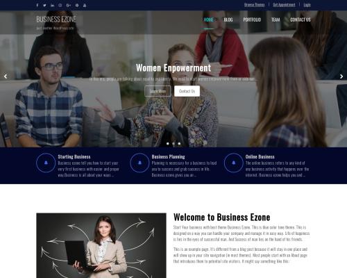 دانلود رایگان قالب وردپرس Business Ezone