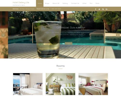 دانلود رایگان قالب وردپرس Hotel Galaxy Lite