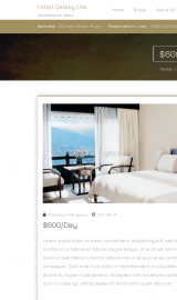 پیش نمایش موبایل قالب وردپرس Hotel Galaxy Lite