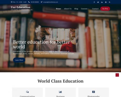 دانلود رایگان قالب وردپرس Uni Education