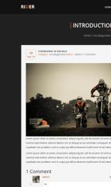 پیش نمایش موبایل قالب وردپرس Rider