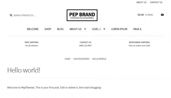 پیش نمایش دسکتاپ قالب وردپرس Pep Brand