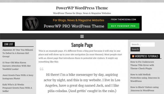 پیش نمایش دسکتاپ قالب وردپرس PowerWP