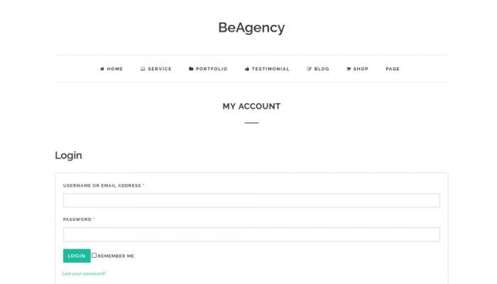 پیش نمایش دسکتاپ قالب وردپرس BeAgency Lite