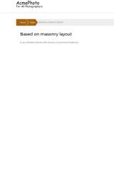 پیش نمایش موبایل قالب وردپرس AcmePhoto