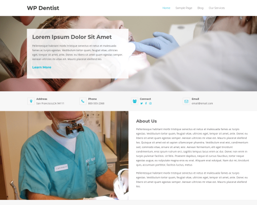 دانلود رایگان قالب وردپرس WP Dentist