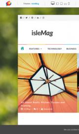 پیش نمایش موبایل قالب وردپرس IsleMag