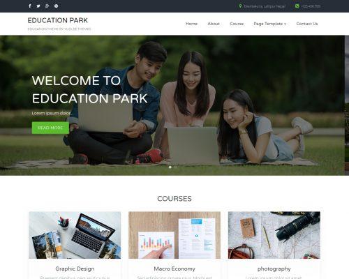 دانلود رایگان قالب وردپرس Education Park