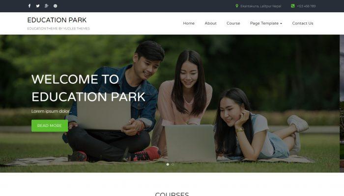 پیش نمایش دسکتاپ قالب وردپرس Education Park
