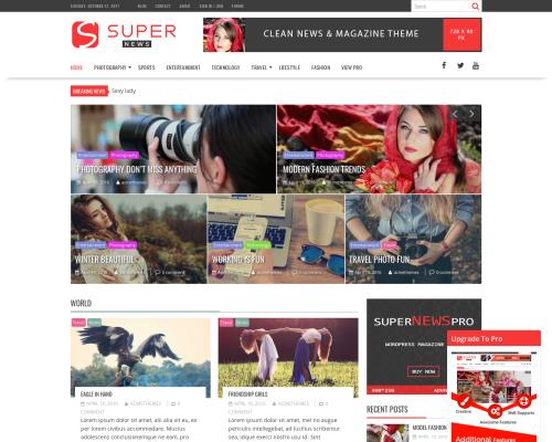 دانلود رایگان قالب وردپرس SuperNews