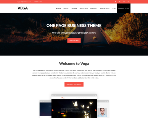 دانلود رایگان قالب وردپرس Vega