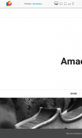 پیش نمایش موبایل قالب وردپرس Amadeus