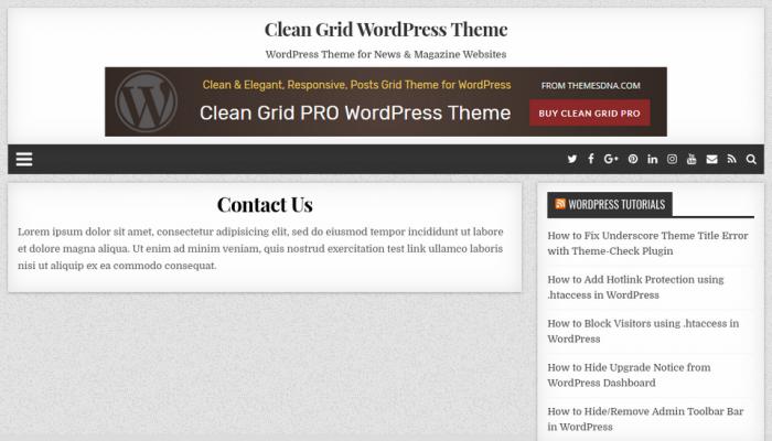 پیش نمایش دسکتاپ قالب وردپرس Clean Grid