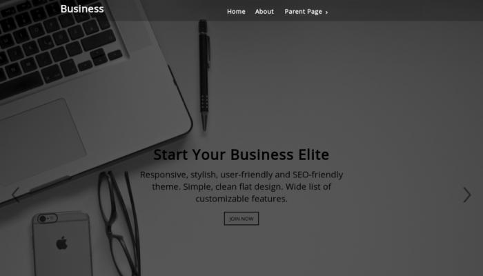 پیش نمایش دسکتاپ قالب وردپرس Business Elite