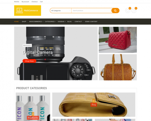 دانلود رایگان قالب وردپرس MultiCommerce