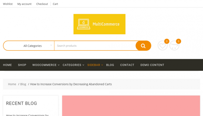 پیش نمایش دسکتاپ قالب وردپرس MultiCommerce
