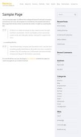 پیش نمایش موبایل قالب وردپرس Business One Page