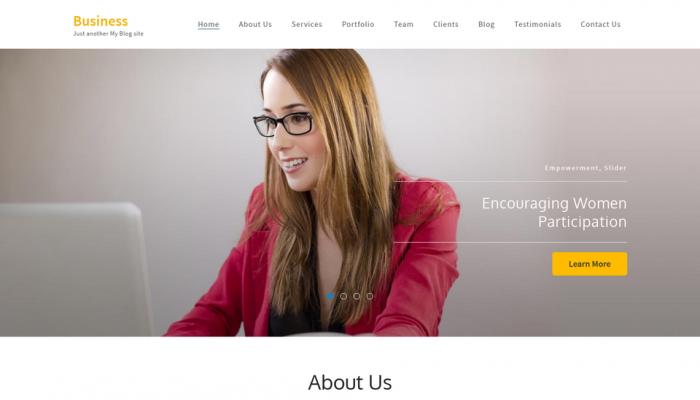 پیش نمایش دسکتاپ قالب وردپرس Business One Page