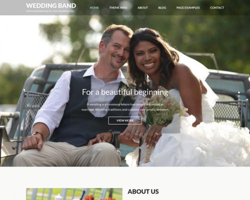 دانلود رایگان قالب وردپرس Wedding Band