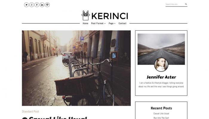 پیش نمایش دسکتاپ قالب وردپرس Kerinci Lite