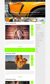 پیش نمایش موبایل قالب وردپرس BlogMaster