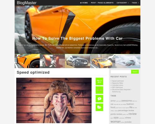 دانلود رایگان قالب وردپرس BlogMaster