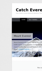پیش نمایش موبایل قالب وردپرس Catch Everest