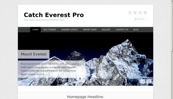 پیش نمایش دسکتاپ قالب وردپرس Catch Everest
