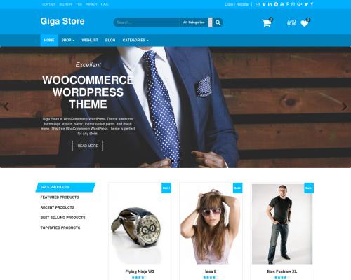 دانلود رایگان قالب وردپرس Giga Store