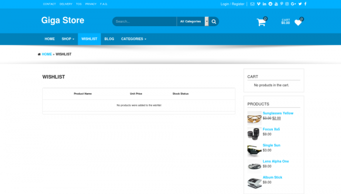پیش نمایش دسکتاپ قالب وردپرس Giga Store