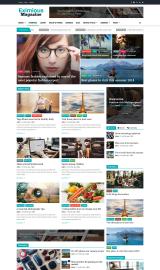 پیش نمایش موبایل قالب وردپرس Eximious Magazine