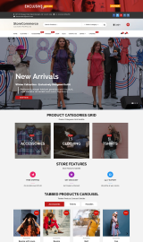 پیش نمایش موبایل قالب وردپرس StoreCommerce