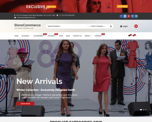 دانلود رایگان قالب وردپرس StoreCommerce