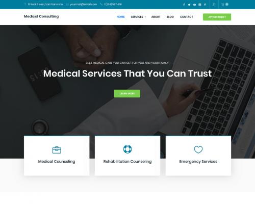دانلود رایگان قالب وردپرس Medical Consulting