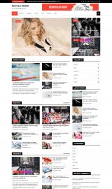 پیش نمایش موبایل قالب وردپرس Royale News