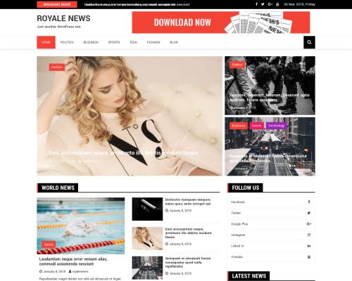 دانلود رایگان قالب وردپرس Royale News