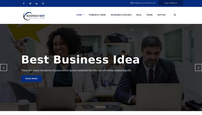 پیش نمایش دسکتاپ قالب وردپرس Business Way