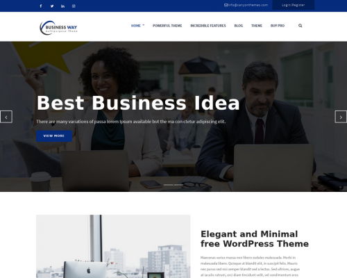 دانلود رایگان قالب وردپرس Business Way
