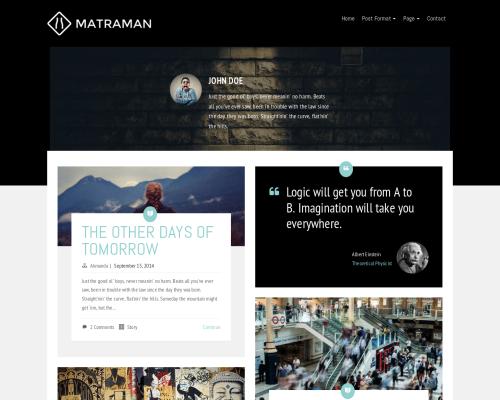 دانلود رایگان قالب وردپرس Matraman Lite
