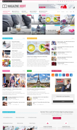 پیش نمایش موبایل قالب وردپرس Magazine Hoot