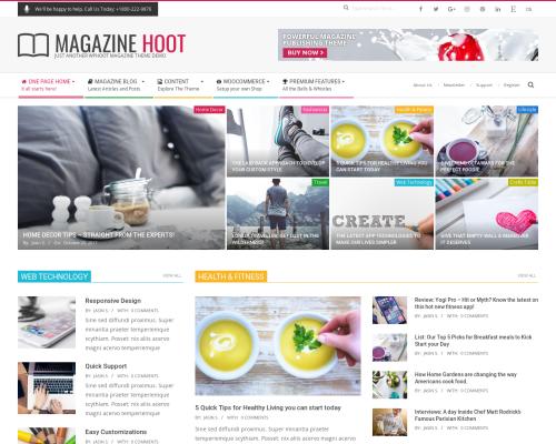 دانلود رایگان قالب وردپرس Magazine Hoot