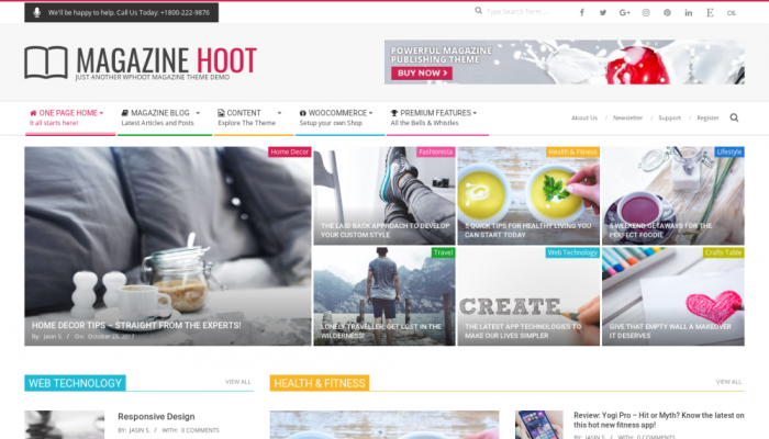پیش نمایش دسکتاپ قالب وردپرس Magazine Hoot