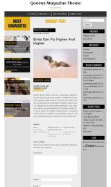 پیش نمایش موبایل قالب وردپرس Queens Magazine Blog