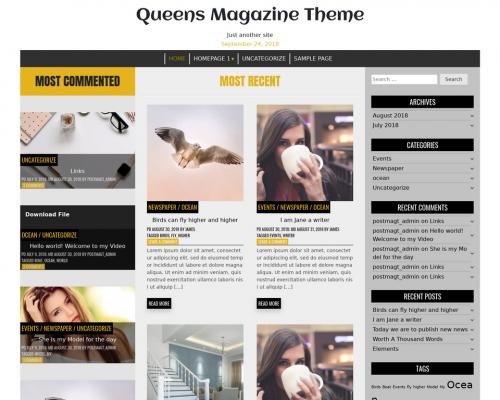 دانلود رایگان قالب وردپرس Queens Magazine Blog